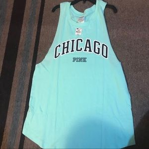 PINK Victoria Secret Top with Chicago in front